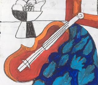 The violin (mixed media) - David Burrow 2017